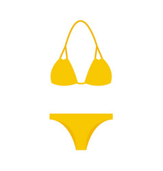 Swimsuit simple icon yellow vector