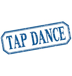 Tap dance square blue grunge vintage isolated vector