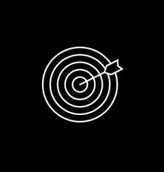 Target keyword line icon vector