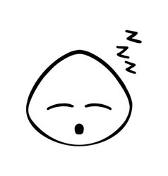 Thin line sleppy face icon vector