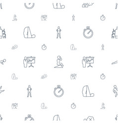 Training icons pattern seamless white background vector