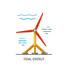 Water turbine icon in flat style vector