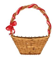 Wicker Basket2 vector image