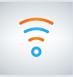 wifi icon flat design style in blue and orange vector image