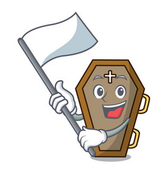 with flag coffin mascot cartoon style vector image