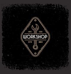 workshop label vector image