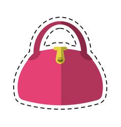 cartoon woman handbag fashion style vector image