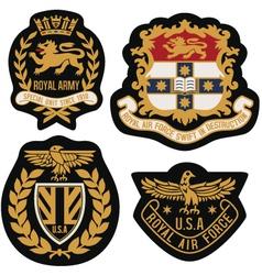 Heraldic emblem badge shield vector