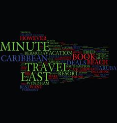 Last minute caribbean travel deals text vector