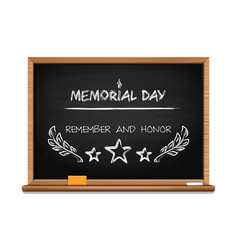 Memorial day concept design with hand lettering vector