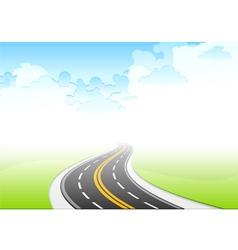 road sky vector image