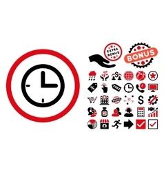 Time Flat Icon with Bonus vector image