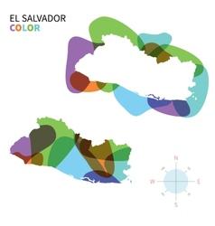 Abstract color map of El Salvador vector image vector image
