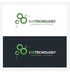 Biotechnology logo design template with abstract vector