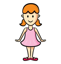 cute girl wearing ballet costume vector image vector image