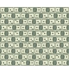 Dollars seamless pattern vector image