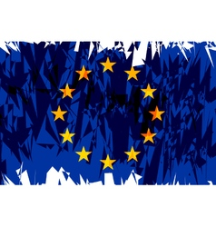Flag of Europe vector image vector image