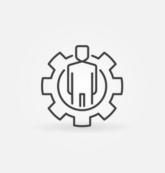 man in gear outline icon vector image
