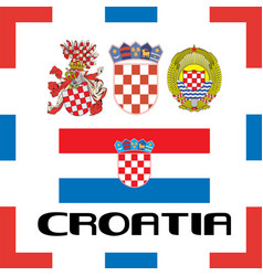 official government ensigns of croatia vector image vector image
