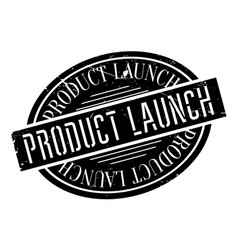 product launch rubber stamp vector image