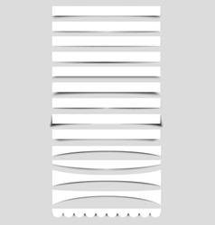 Collection of Box Shadows vector image vector image