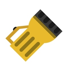 lantern light tool element camping yellow vector image