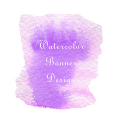 purple pink watercolor vector image