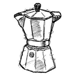 scribble series - coffeemaker vector image vector image