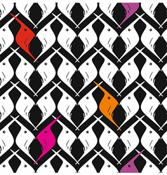 Seamless pattern Birds vector image vector image