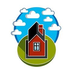 Simple house countryside idea abstract ima vector