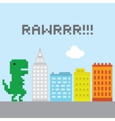 T-rex in the city vector image