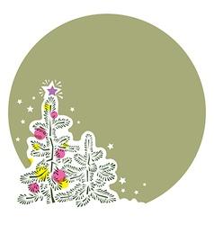 template post congratulates Happy New Year vector image vector image