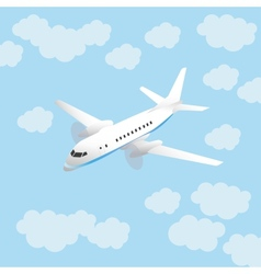 Aircraft and sky vector image vector image