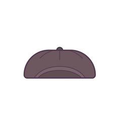 black baseball cap line art vector image