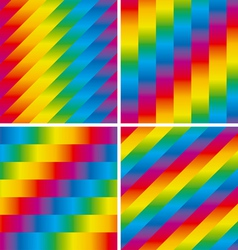 Four seamless patterns set vector image