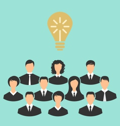 group of business people gather together birth of vector image