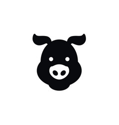 isolated swine icon hog element can be vector image