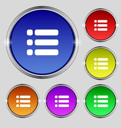 List menu content view options icon sign round vector