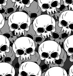 Skull texture Skeleton head lot Background of vector image vector image