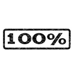100 percent watermark stamp vector