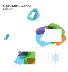 Abstract color map of Equatorial Guinea vector image