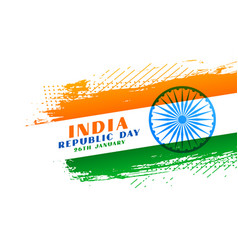 Abstract indian republic day creative background vector