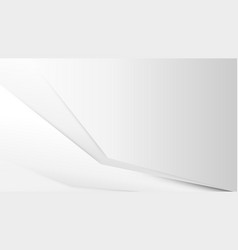 abstract white modern simple overlap geometric vector image