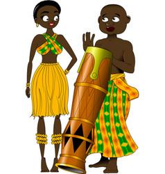African drum vector