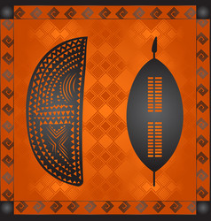 African national cultural symbols vector
