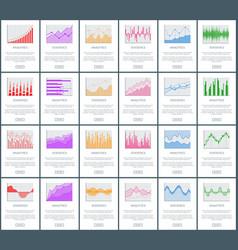 Analytics and statistics set vector