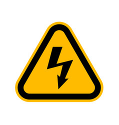 attention beware high voltage sign danger vector image