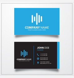 Audio wave icon business card template vector
