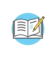 Back to School Icon Book and Pencil vector