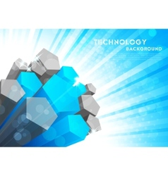background with 3d element vector image